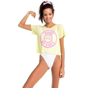Wildfox 'Body by Trey' Broad City Crop Graphic Tee